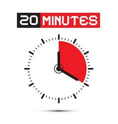 Twenty Minutes Stop Watch - Clock vector image