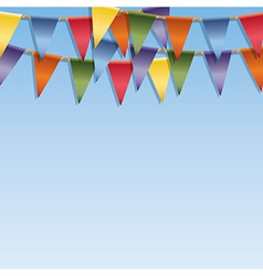 Bunting decoration vector