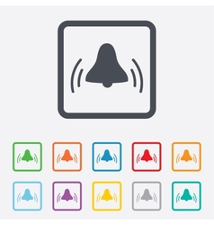Alarm bell sign icon wake up alarm symbol vector