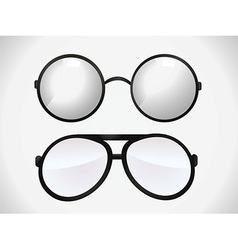 Glasses designs vector image