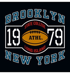 Brooklyn state college t-shirt typography graphics vector