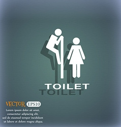 Toilet icon symbol on the blue-green abstract vector