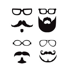 Hipster style silhouette vector