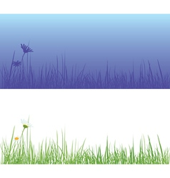 Field grass day and night vector