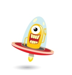 Ufo alien  flying saucer vector