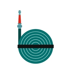 Fire hose winder roll reels icon vector