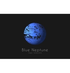 Neptune logo planet logo comic logo space logo vector