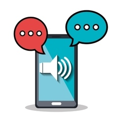 Voice messages design vector
