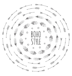 Boho Frame Collection vector image