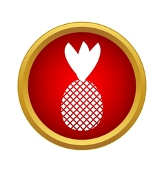Pineapple icon in simple style vector