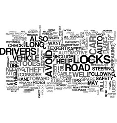 auto safety text word cloud concept vector image vector image