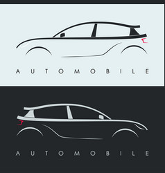 Automotive car logo design black and grey sports vector