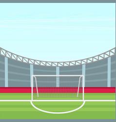 background of football stadium flat design vector image vector image