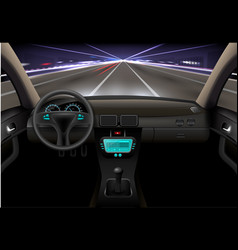 car interior night vector image