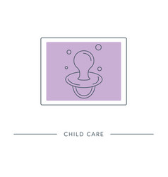 Child care - outline icon vector