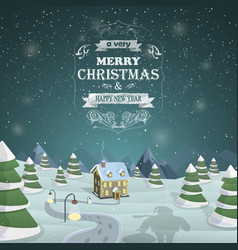 Christmas Eve background vector image vector image