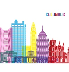 Columbus skyline pop vector