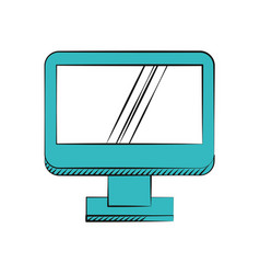Computer screen device technology vector