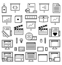 Designer Website Icons vector image vector image