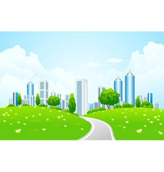 eco modern city vector image vector image