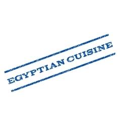 Egyptian cuisine watermark stamp vector