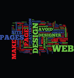 essential tips for a web designer text background vector image vector image