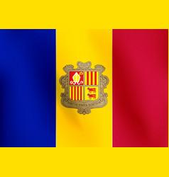 flag of andorra - vector image