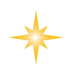 Gold star icon Night design graphic vector image vector image