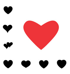 heart black and white icon vector image vector image