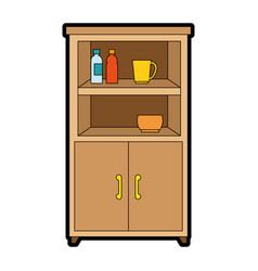 kitchen cabinet isolated icon vector image