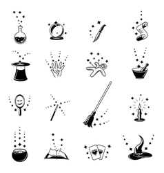 magic icons set vector image