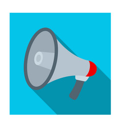 megaphone icon in flat style isolated on white vector image