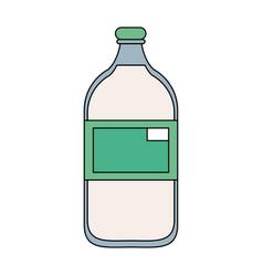 milk glass bottle vector image vector image