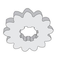 Monochrome image of metal gears vector
