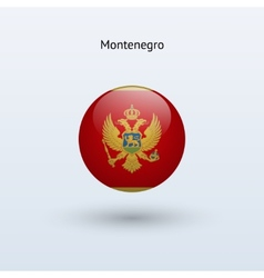 Montenegro round flag vector image vector image