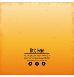 Orange and grunge wallpaper icon cover background vector