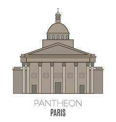 Pantheon Paris vector image