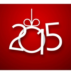 Paper 2015 new year sign vector image