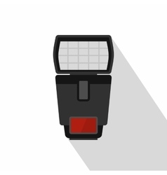 Photo camera flash icon flat style vector