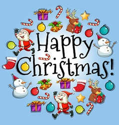Poster design with christmas theme vector image