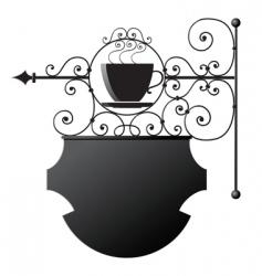 restaurant signboard vector image