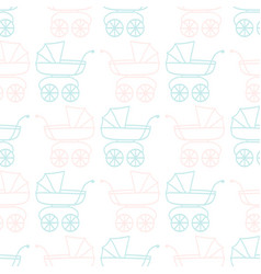 Seamless pattern for baby shower vector