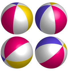 set 3D beach ball isometric vector image vector image