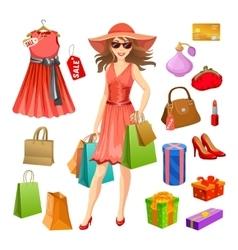 Shopping Elements Set vector image