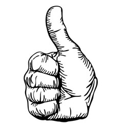 Thumbs-up vector