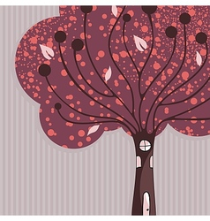 Tree House Background vector image