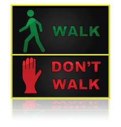 Walk and dont walk sign vector