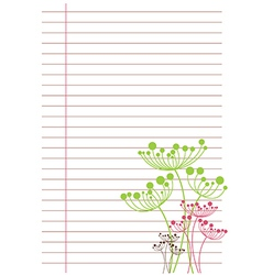 white sheet of paper in line vector image vector image
