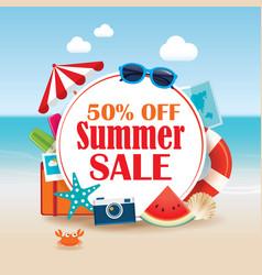Summer sale background banner design template vector