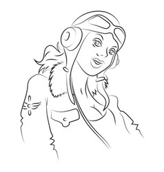 Cartoon image of air force woman vector